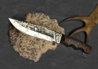 Нож туристический Удачной охоты с надписью