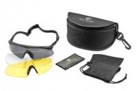 Очки REVISION SawflyTX Pro Delux, стандарт оправа - черная, три светофильтра HC