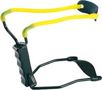 Рогатка Man Kung MK-T11 с упором, черный/желтый