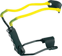 Рогатка Man Kung MK-T1 с упором, черный/желтый