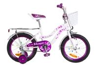 """Велосипед Formula FLOWER 14G 16"""" St бело-фиолетовый с багажником с крылом St 2018"""