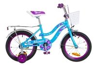 """Велосипед Formula FLOWER 14G 16"""" St голубой с фиолетовым с багажником St 2018"""