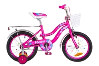 """Велосипед Formula FLOWER 14G 16"""" St малиновый с багажником с крылом St 2018"""