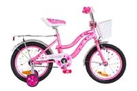 """Велосипед Formula FLOWER 14G 16"""" St розовый с багажником с крылом St 2018"""