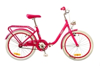 "Велосипед Dorozhnik STAR 14G 20"" бело-розовый 2017"