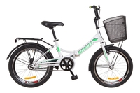 """Велосипед Formula SMART 14G 20"""" St бело-зеленый с багажником и корзиной 2018"""