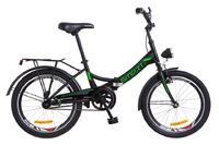 """Велосипед Formula SMART 14G 20"""" St черно-зеленый с багажником и фонарем 2018"""