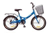 """Велосипед Formula SMART 14G 20"""" St синий с багажником и корзиной"""