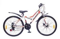 """Велосипеды Discovery, Велосипед Discovery FLINT AM 14G DD 24"""" St бело-черно-оранжевый"""
