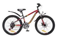 """Велосипед Discovery FLINT AM 14G DD 24"""" St черно-оранжево-красный 2018"""