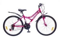 "Велосипеды Discovery, Велосипед Discovery FLINT AM 14G DD 24"" St розово-бело-серый"