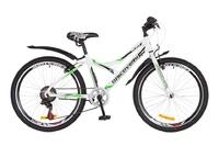 """Велосипед Discovery FLINT 14G Vbr 24"""" St бело-зеленый с крылом 2018"""
