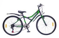 """Велосипеды Discovery, Велосипед Discovery FLINT 14G Vbr 24"""" St черно-серо-зеленый"""