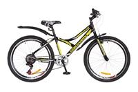 """Велосипед Discovery FLINT 14G Vbr 24"""" St черно-желтый с крылом 2018"""