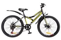 "Велосипед Discovery FLINT AM 14G DD 24"" St черно-желтый 2018"