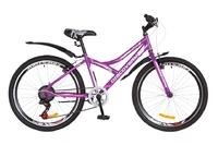 """Велосипед Discovery FLINT 14G Vbr 24"""" St фиолетово-белый с крылом 2018"""