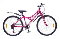 "Велосипед Discovery FLINT 14G Vbr 24"" St розово-бело-серый"