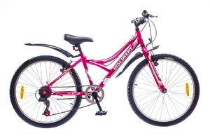 "Велосипеды Discovery, Велосипед Discovery FLINT 14G Vbr 24"" St розово-бело-серый"