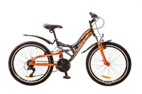 """Велосипед Formula ATLAS AM 14G 24"""" St черно-оранжевый"""