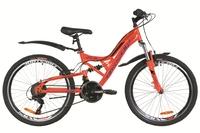 """Велосипед Formula ATLAS AM2 VBR 14G 26"""" St красно-синий с крылом Pl 2019"""