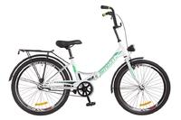 """Велосипед Formula SMART 14G 24"""" St бело-зеленый с багажником и фонарем 2018"""