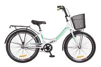 """Велосипед Formula SMART 14G 24"""" St бело-зеленый с багажником и корзиной 2018"""