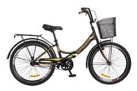 """Велосипед Formula SMART 14G 24"""" St черно-оранжевый с багажником и корзиной 2018"""