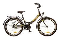 """Велосипед Formula SMART 14G 24"""" St черно-оранжевый с багажником и фонарем"""