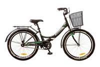 """Велосипед Formula SMART 14G 20"""" St черно-зеленый с багажником и фонарем"""