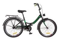 """Велосипед Formula SMART 14G 24"""" St черно-зеленый с багажником и фонарем 2018"""