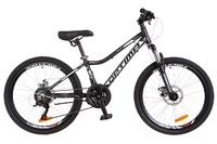 "Велосипед Optimabikes BLACKWOOD DD 24"" Al черно-белый 2018"