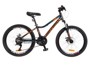 "Велосипеды Optimabikes, Велосипед Optimabikes BLACKWOOD Vbr 24"" Al черно-оранжево-синий 2018"