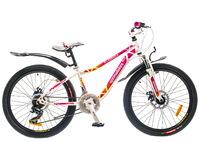 """Велосипед Optimabikes FLORIDA AM 24"""" 14G DD St бело-розовый 12.5"""""""