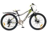 """Велосипед Optimabikes FLORIDA AM 24"""" 14G DD St черно-зеленый 12.5"""""""