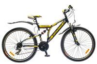 """Велосипед Optimabikes DETONATOR AM2 14G 26"""" St  черно-желтый"""