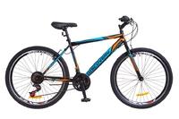 """Велосипед Discovery ATTACK 14G Vbr 26"""" St черно-синий с оранжевым 2018"""