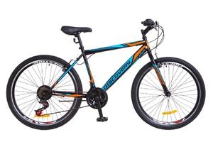 """Велосипеды Discovery, Велосипед Discovery ATTACK 14G Vbr 26"""" St черно-синий с оранжевым 2018"""