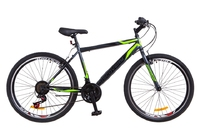 "Велосипед Discovery ATTACK 14G Vbr 26"" St серо-салатный 2018"