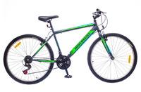 """Велосипед Discovery ATTACK 14G Vbr 26"""" St серо-зеленый"""