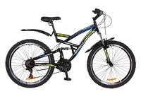 """Велосипед Discovery CANYON AM2 14G Vbr 26"""" St черно-сине-зеленый 2018"""