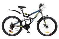 """Велосипед Discovery CANYON AM2 14G DD 26"""" St черно-сине-зеленый 2018"""
