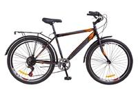 """Велосипед Discovery PRESTIGE Man Vbr 14G 26"""" St черно-оранжевый с багажником зад St, с крылом St 2018"""