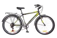 """Велосипед Discovery PRESTIGE Man Vbr 14G 26"""" St черно-желтый с багажником зад St, с крылом St 2018"""