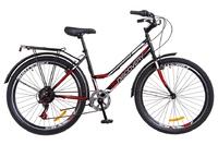 """Велосипед Discovery PRESTIGE WOMAN Vbr 14G 26"""" черно-красный с багажником зад, с крылом St 2018"""