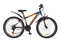 """Велосипед Discovery TREK Vbr 14G 26"""" рама-15"""" St черно-оранжево-синий 2018"""