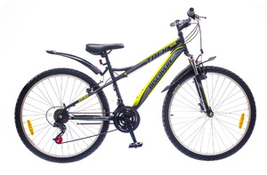 "Велосипеды Discovery, Велосипед Discovery TREK Vbr 14G 26"" рама-15"" St черно-серо-зеленый"