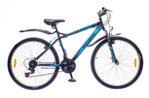 "Велосипеды Discovery, Велосипед Discovery TREK Vbr 14G 26"" рама-18"" St черно-сине-серый"