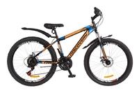 """Велосипед Discovery TREK DD 14G 26"""" рама-15"""" St черно-оранжево-синий 2018"""
