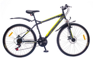 "Велосипеды Discovery, Велосипед Discovery TREK DD 14G 26"" рама-15"" St  черно-серо-зеленый"