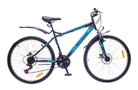 "Велосипеды Discovery, Велосипед Discovery TREK DD 14G 26"" рама-15"" St  черно-сине-серый"